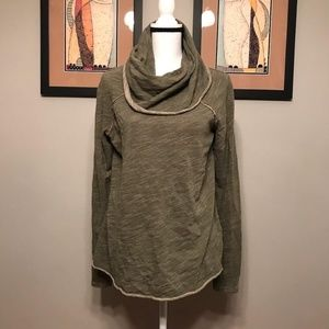 Free People FP Beach Cowl Neck Pullover